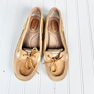 Brown leather Sperry topsider